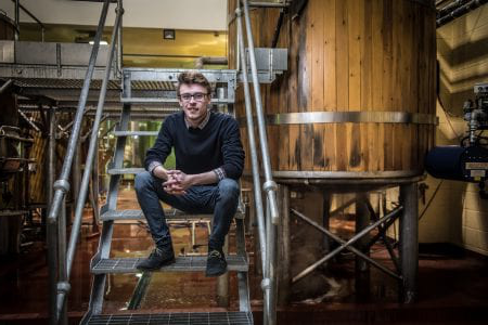 work placement student at brewery