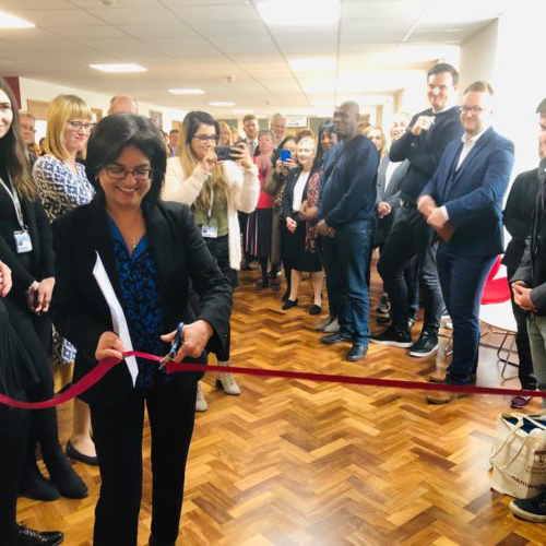 Opening of the careers and employability hub - ribbon cutting by Dr Mehreen Mirza