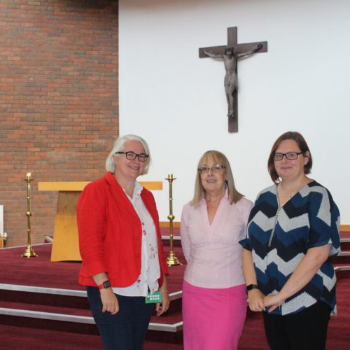 Helen Bardy, Maggie Everett, Margaret Holland celebrate partnership
