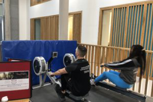 staff and students take part in row Britannia challenge